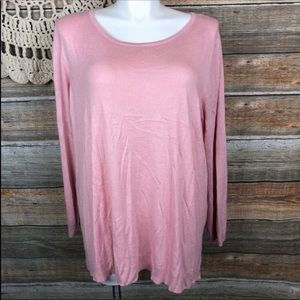 Investments thin 3x Powder Pink Sweater